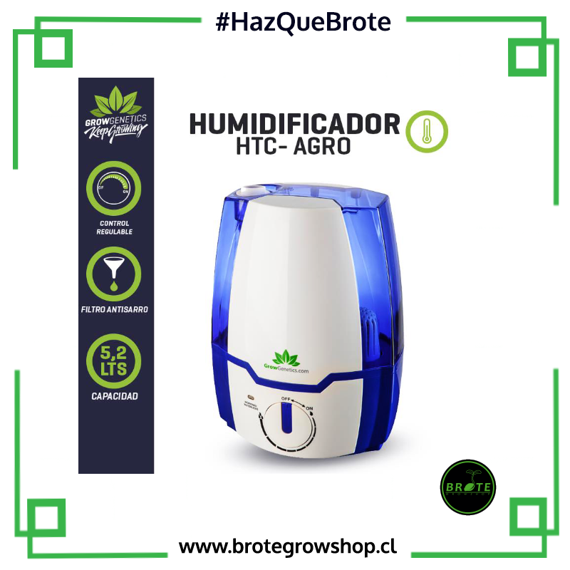 Grow Genetics Humidificador Ultrasonico 5.2 litros